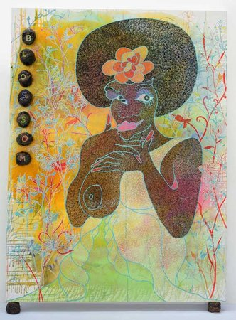 Chris ofili s the holy virgin mary