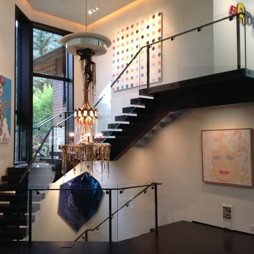 Amy Phelan's Scene-Stealing, Art-Bedecked Staircase