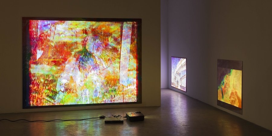 the rise of the projected painting 5 artists who fuse canvases and circuitry