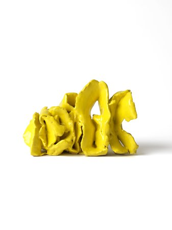 Ghada Amer Yellow Sculpture