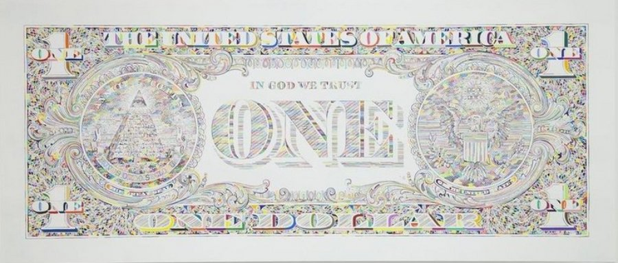 Tom Friedman Untitled Dollar Bill Back