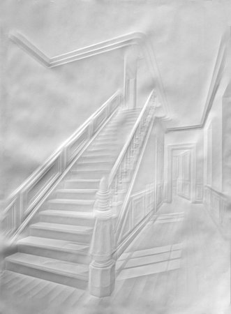 staircase with figure