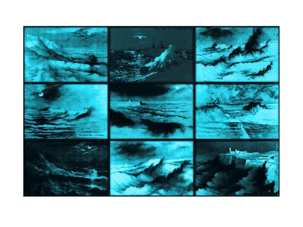 SUSAN HILLER Rough Moonlit Nights (Cyan), 2015