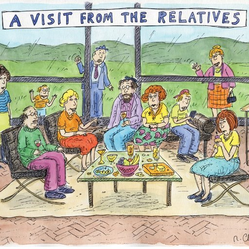 Cartoonist Roz Chast Takes on The Most Dangerous Adversary: Visiting Relatives