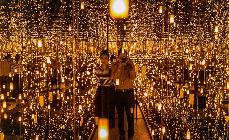 A Look Inside Yayoi Kusama's Five Infinity Rooms at the Seattle Art Museum