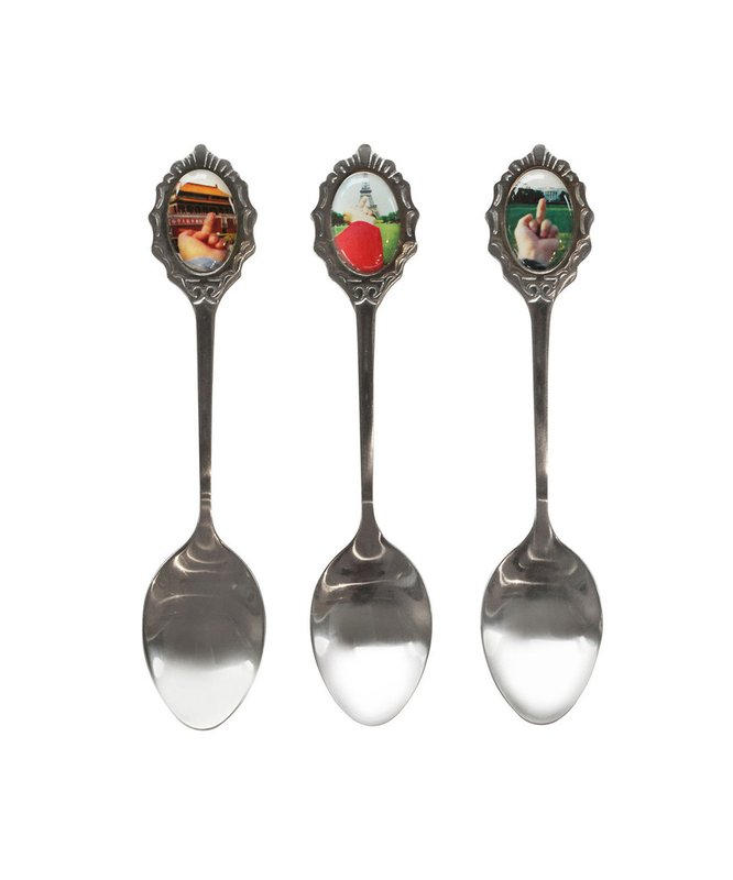 ai weiwei Study of Perspective Souvenir Spoons