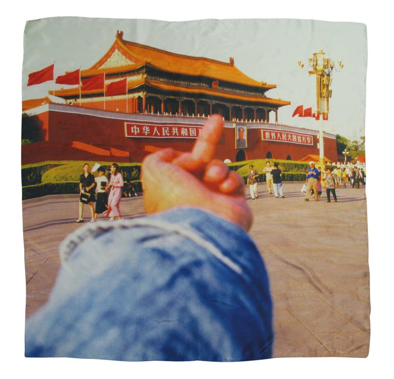 Ai Weiwei, Study of Perspective - Tiananmen - Scarf