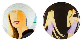 Jessica and Sara Mearns Plate Set, by Alex Katz