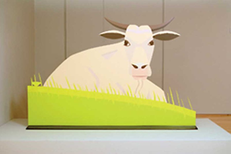Alex Katz, Cow - Three-dimensional view of cut-out
