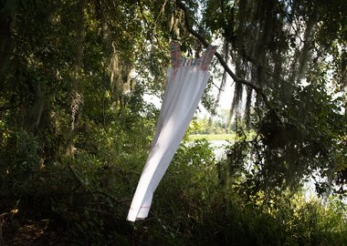 Allison Janae Hamilton - House dress hanging in live oak.