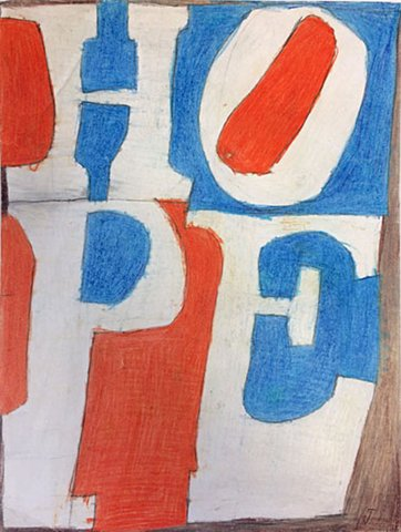 Andrew Hostick - Robert Indiana: Hope 2013, Work on Paper