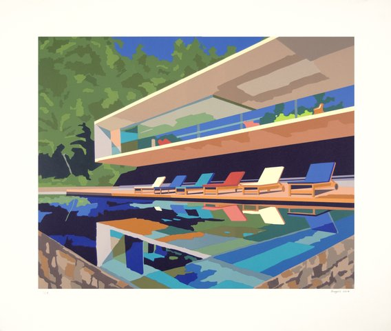Andy Burgess - Brazil House, Print