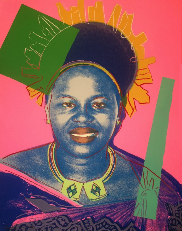 Andy Warhol - Queen Ntombi Twala of Swaziland Trial Proof(FS IIB.346 ...