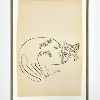 25 Cats Name Sam and One Blue Pussy (IV.67) art for sale