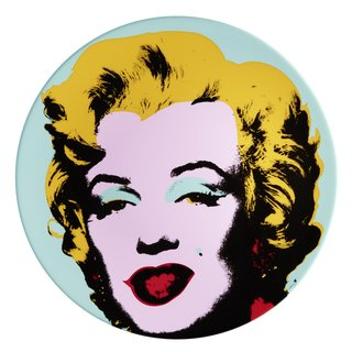 Marilyn Plate Set (Blue & Purple) art for sale