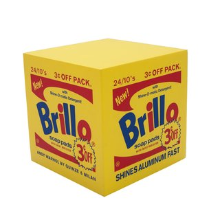 Brillo Box POUF Yellow art for sale