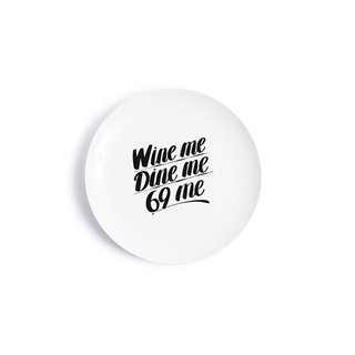"""Wine me Dine me"" Baron Von Fancy Plate art for sale"