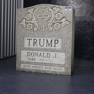 Donald Trump Tombstone (Artist Proof) art for sale