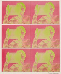 "Untitled (2-color lithograph, published in conjunction with the exhibition ""Bruce Nauman: Holograms, Videotapes, and Other Works""), by Bruce Nauman"