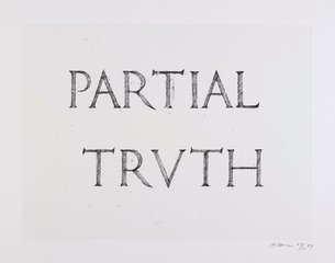 Partial Truth, by Bruce Nauman