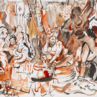 Cecily Brown - Strolling Actresses, Work on Paper