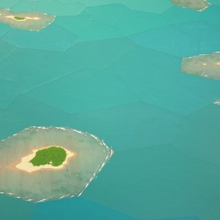Atolls, Fractured Landscape art for sale
