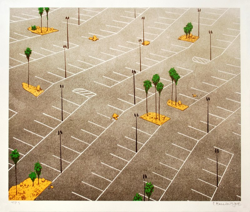 Chris Ballantyne, Parking Lot with Palm Trees, 2013