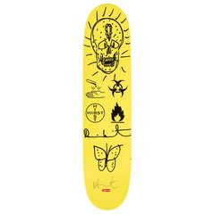 Skateboard Deck-Supreme Yellow #6, by Damien Hirst
