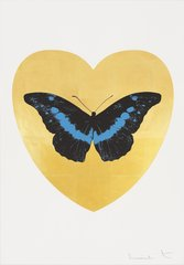 I love You - Gold Leaf/Black/Turquoise, by Damien Hirst