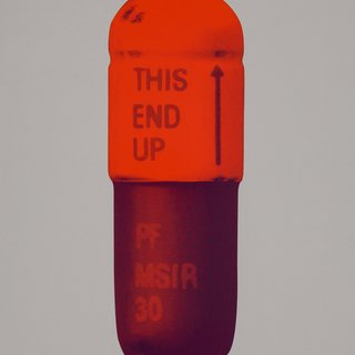 The Cure - Battleship Grey/Fizzy Orange/Berry, by Damien Hirst