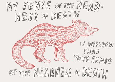 Dave Eggers - Untitled (My Sense of Death…)