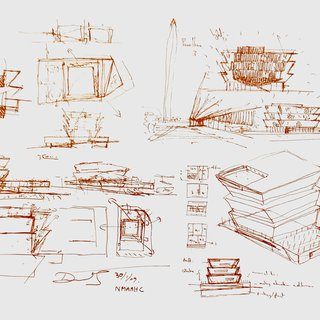 David Adjaye - Smithsonian Sketch Print, Work on Paper