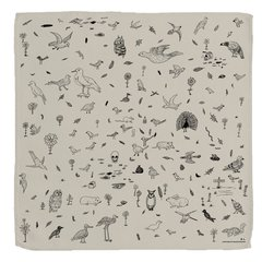 Birds, Animals and Rubbish - Scarf, by David Shrigley