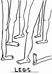 Untitled (legs), by David Shrigley
