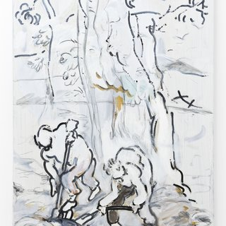 Dennis Witkin, Two Diggers (white)