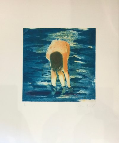 Eric Fischl - Untitled (Boy in blue water), Print