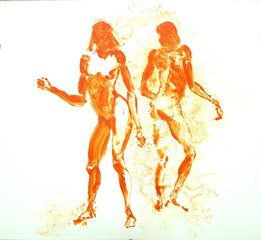 Two Girls Dancing for L.R., by Eric Fischl