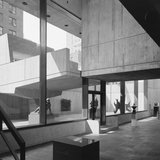 Whitney Museum, Marcel Breuer, New York, NY ( lower lobby and canopy)