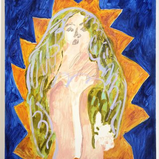 Blue Madonna art for sale