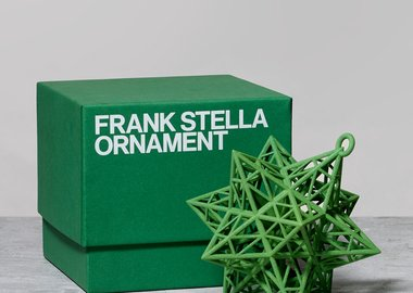 Frank Stella - Star Ornament, Green