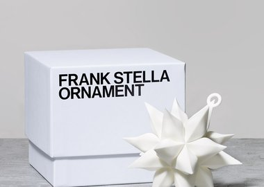 Frank Stella - Star Ornament, White