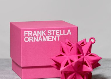 Frank Stella - Star Ornament, Pink