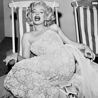 Marilyn Monroe in Deckchair art for sale