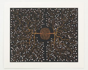 562 eyes in self-surveillance, by Fred Tomaselli