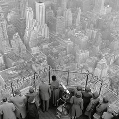 New York City. The Empire State Building. The observatory on the 86th floor. 1950., by George Rodger