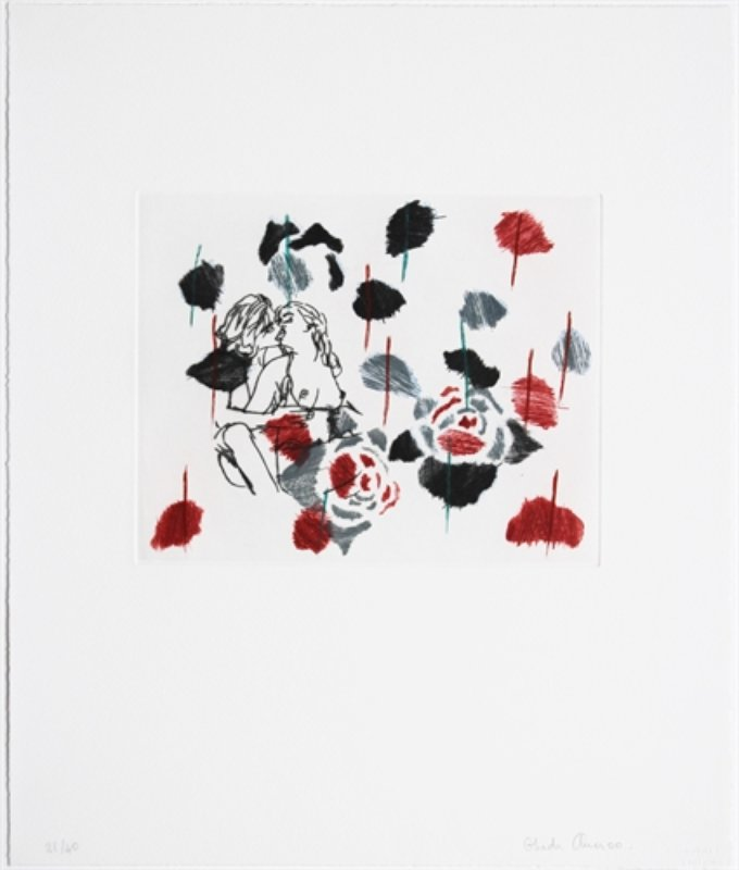 Ghada Amer, Black Rose -