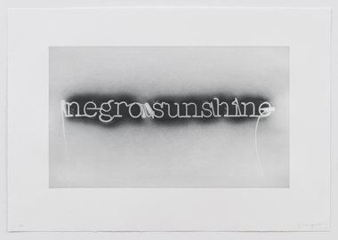 Glenn Ligon - Warm Broad Glow (Reversed)
