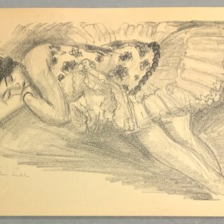 Sleeping Ballerina ( Danseuse Endormie au Divan) art for sale