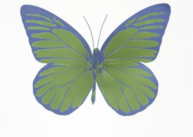 Damien Hirst - The Souls I - Leaf Green/Blind Impression/ Cornflower Blue