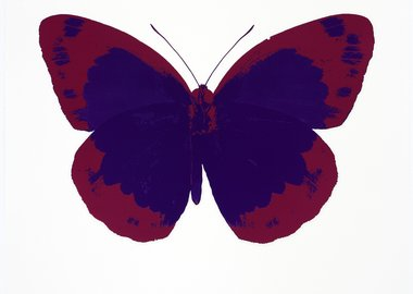 Damien Hirst - The Souls II - Imperial Purple/Fuchsia Pink/Blind Impression